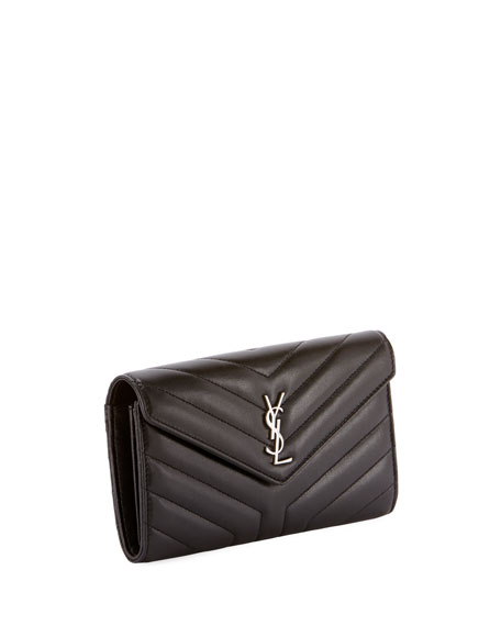 Loulou Monogram YSL Continental V-Flap Wallet
