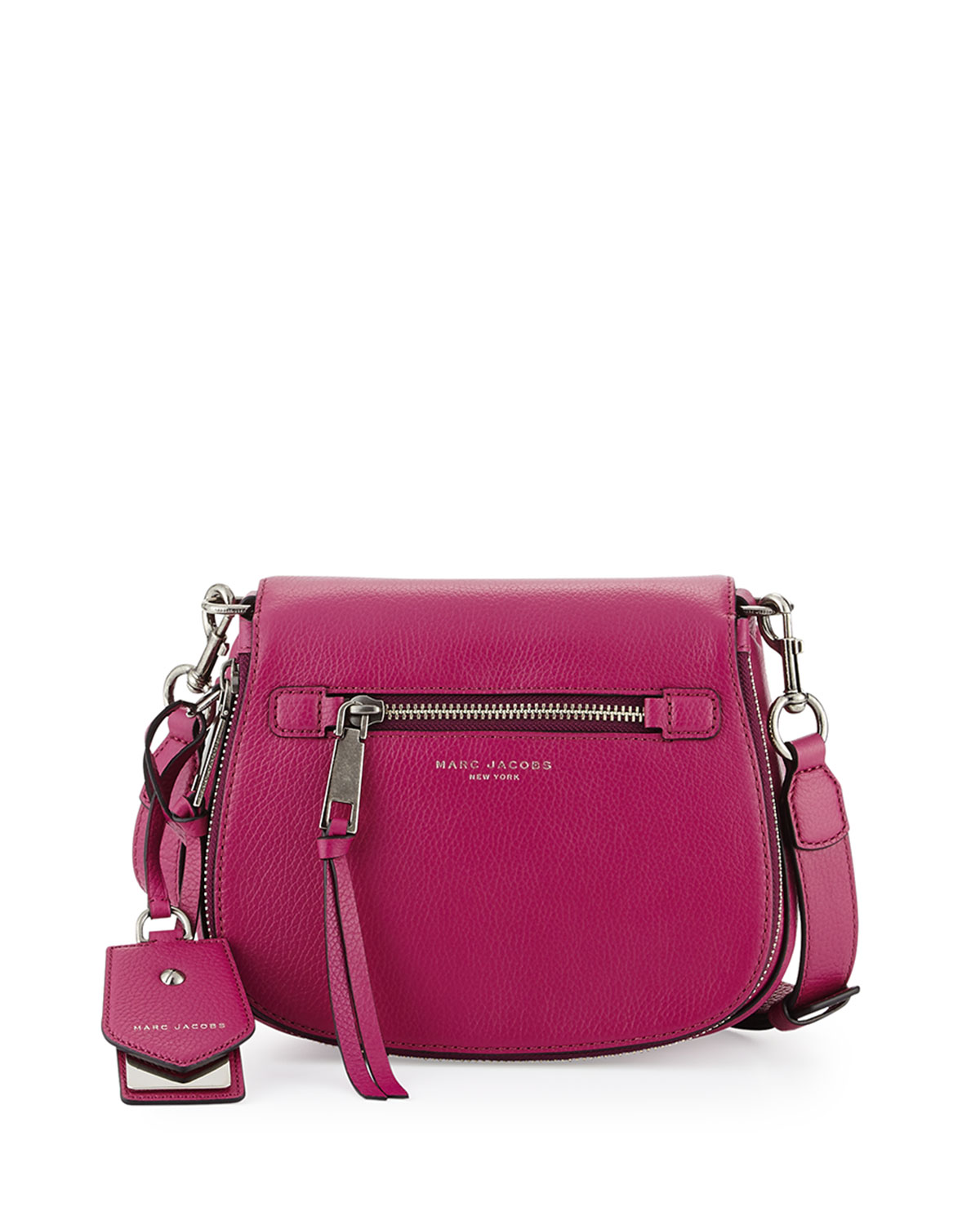 def961e4bc9743 Marc Jacobs Recruit Small Leather Saddle Bag | Neiman Marcus