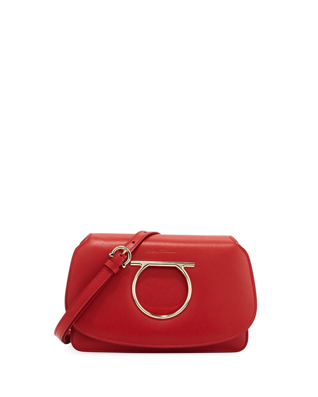 9bc3cacd6d0a Salvatore Ferragamo Gancio Vela Smooth Leather Crossbody Bag ...