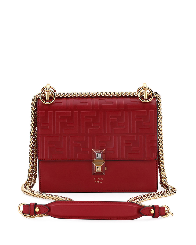 a2f2afb68181 Fendi Kan I Small Liberty FF Embossed Shoulder Bag