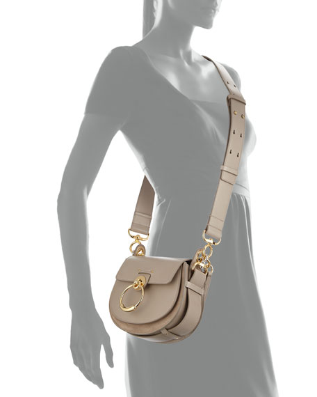 Tess Small Leather/Suede Camera Crossbody Bag