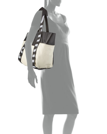 Proenza Schouler Convertible East-West Canvas/Leather Tote Bag
