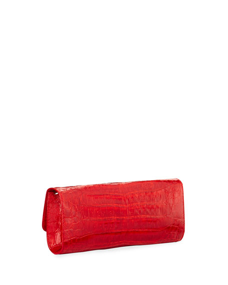Judith Leiber Couture Kate Cayman Crocodile Clutch Bag