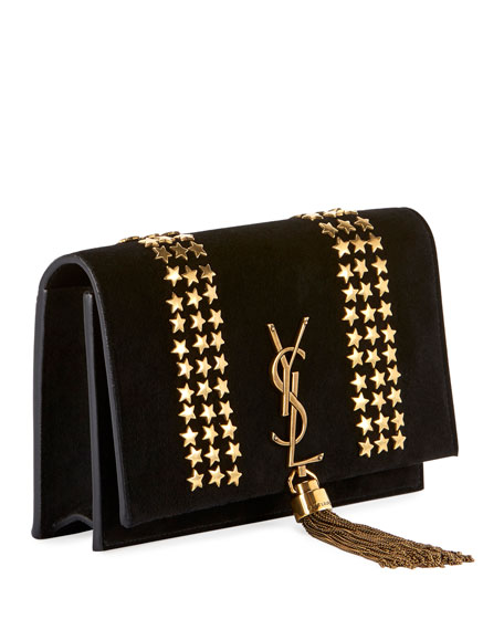 Saint Laurent Kate Monogram Ysl Small Star Studded Suede