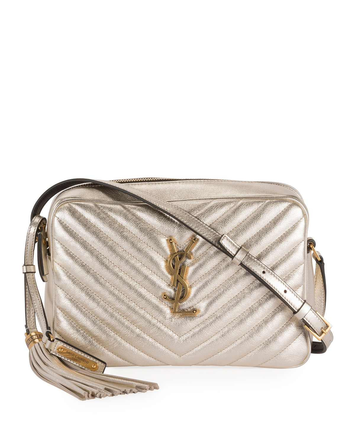 top style official shop 100% authenticated Lou Medium YSL Monogram Quilted Camera Crossbody Bag