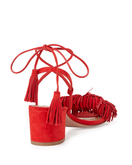 Wild Thing Suede 50mm City Sandal, Lipstick