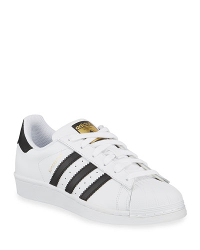 adidas superstar classico della scarpa, bianco / scarlet da neiman