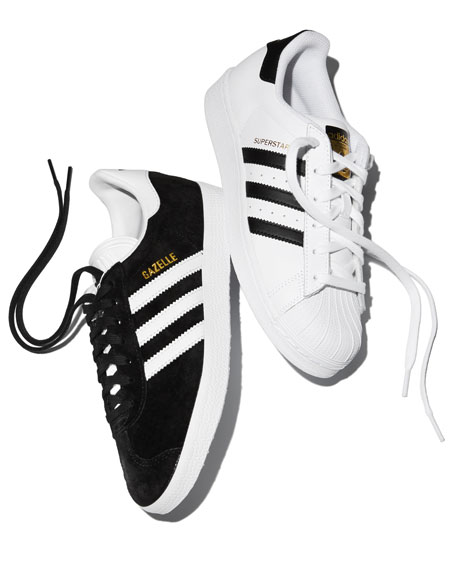 Adidas Superstar Classic Sneakers, Black/White