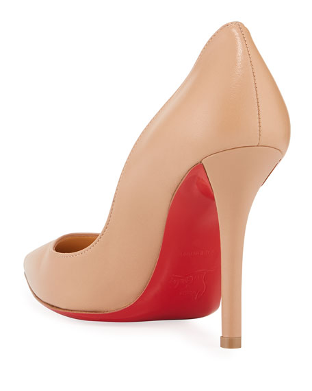 Image 4 of 4: Christian Louboutin Apostrophy Pointed Red-Sole Pump