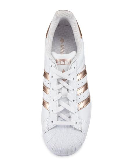 Superstar Original Fashion Sneakers, White/Rose Gold