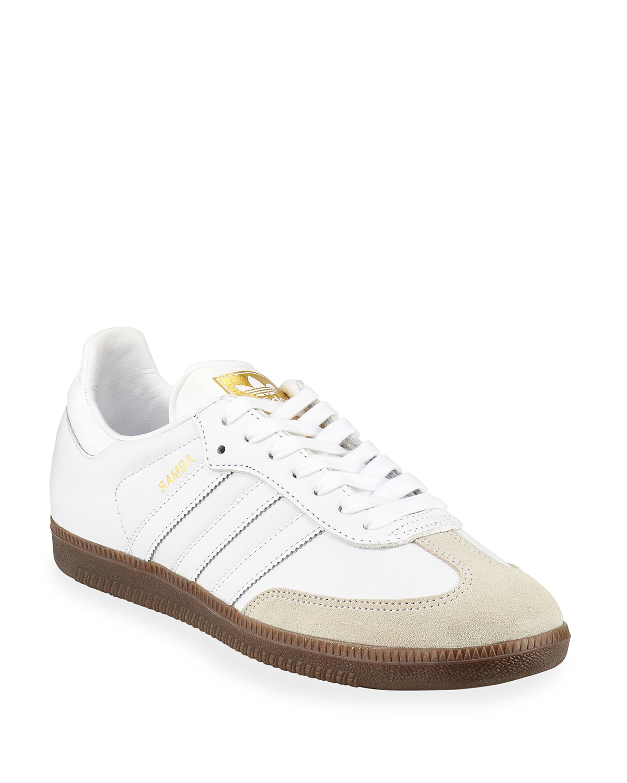 a44b082ef Adidas Samba Classic Leather Sneakers, White | Neiman Marcus