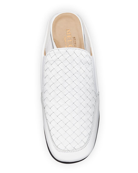 Image 3 of 4: Sesto Meucci Giana Woven Leather Mule