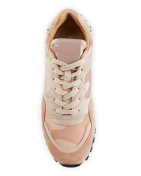 Rockstud Camo Trainer Sneakers