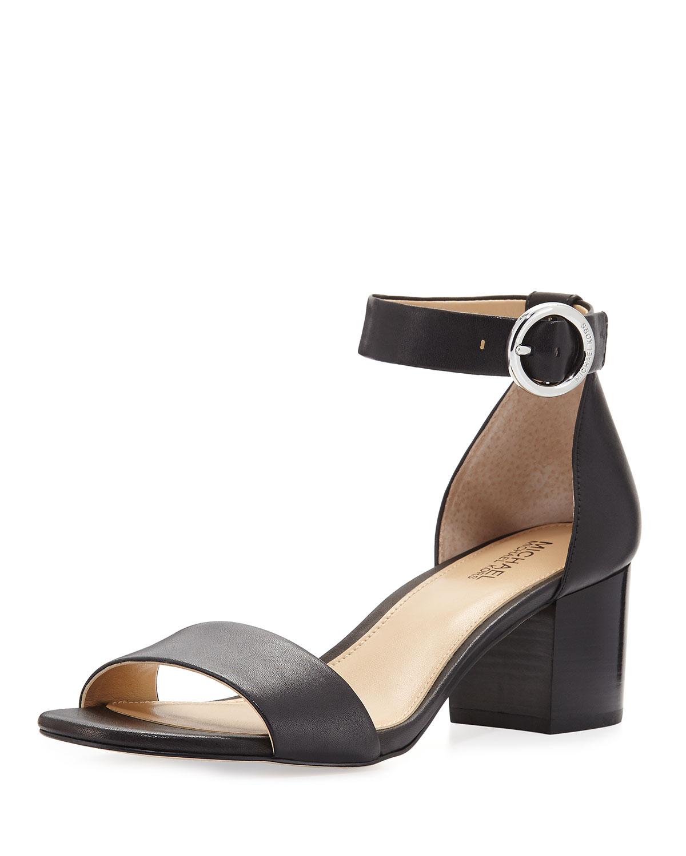 5e6a7d95710 MICHAEL Michael Kors Lena Leather City Sandal