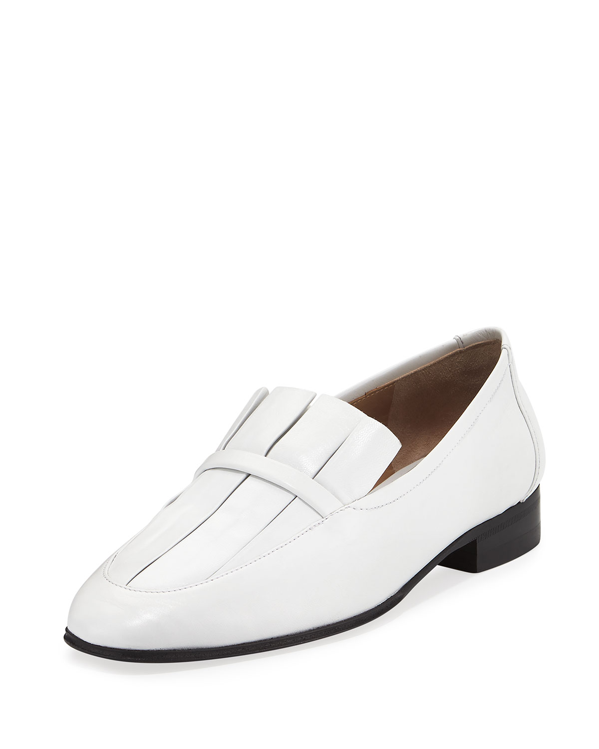 The Row Adam Pleat Leather Loafers clearance outlet best prices sale online a3gsKKz