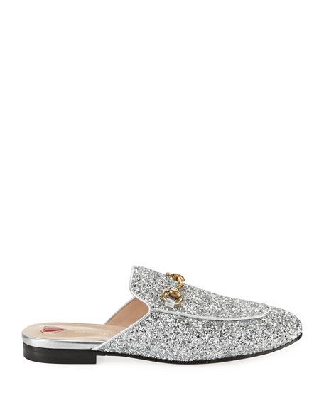 Gucci Princetown Glitter Slide Flat Mule