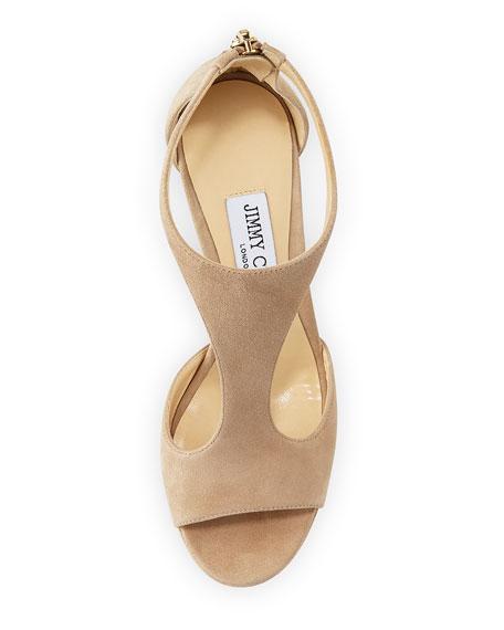 Lana Suede T-Strap 100mm Sandals