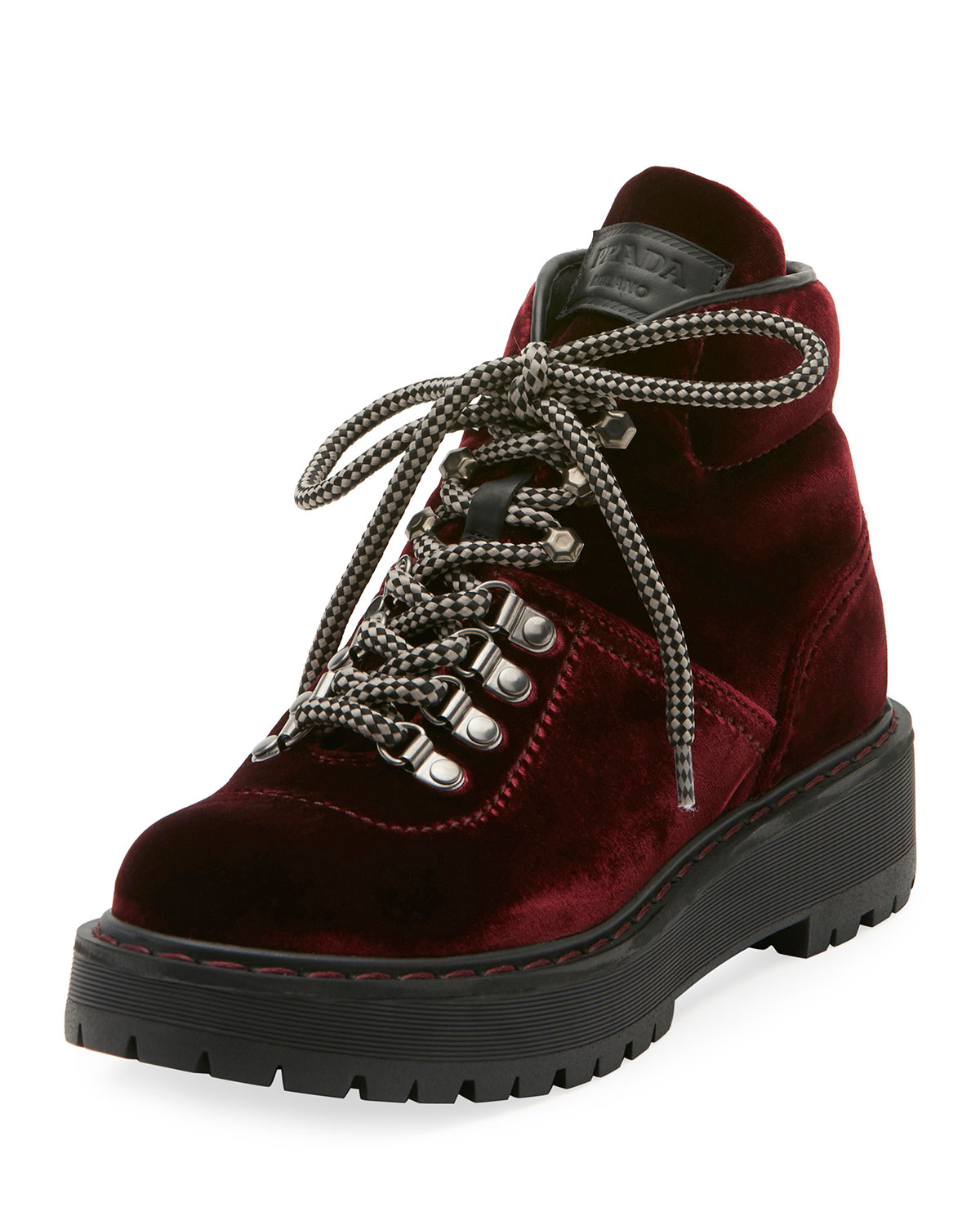 0c8840df Velvet Lace-Up Combat Boot