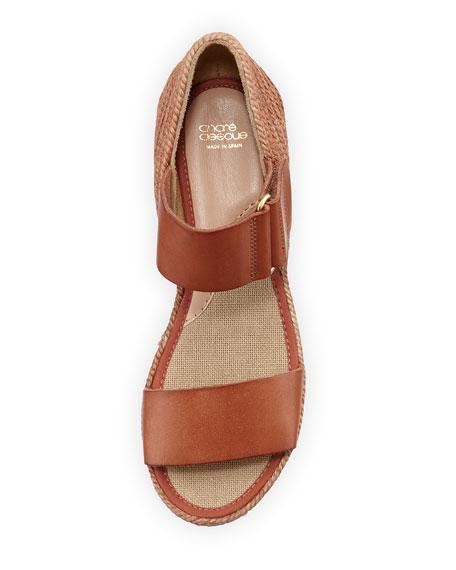 Gretta Leather Espadrille Wedge Sandal