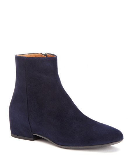 Aquatalia Ulyssa Waterproof Suede Ankle Boots with Hidden