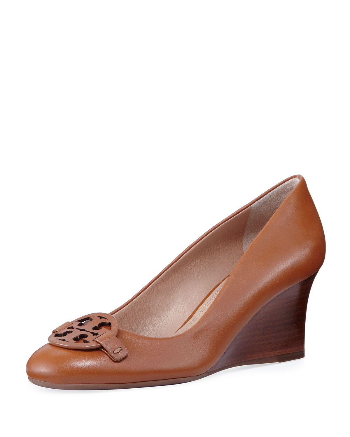 42f40ca50385ca Tory Burch Miller Smooth Leather 65mm Wedge Pump
