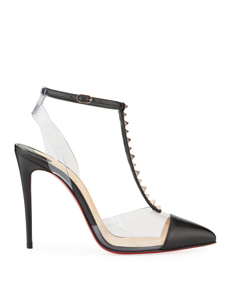 Nosy Spiked T-Strap Red Sole Pumps