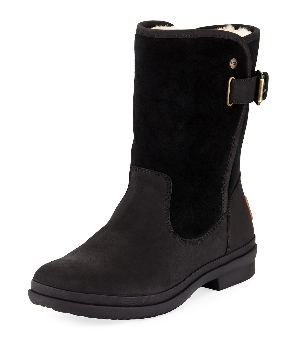 3cddf7952b5 Oren Mixed Leather Weather Boot