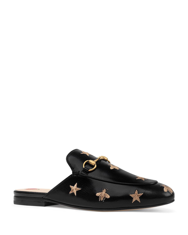 3571e30b9fd Gucci Flat Princetown Bee   Star Mule