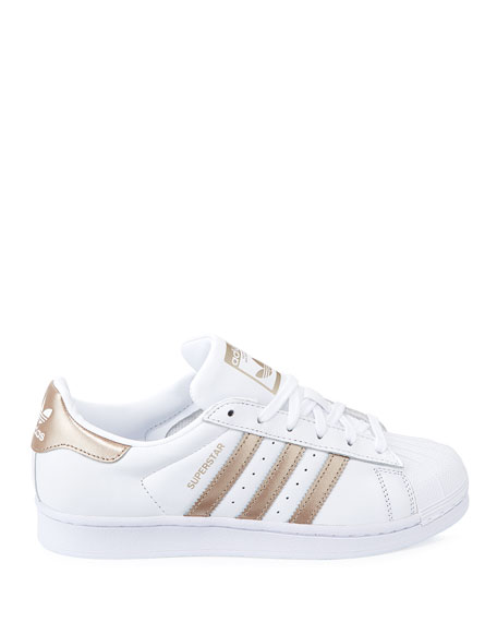 Adidas Superstar Lace-Up 3-Stripes&#174 Sneakers