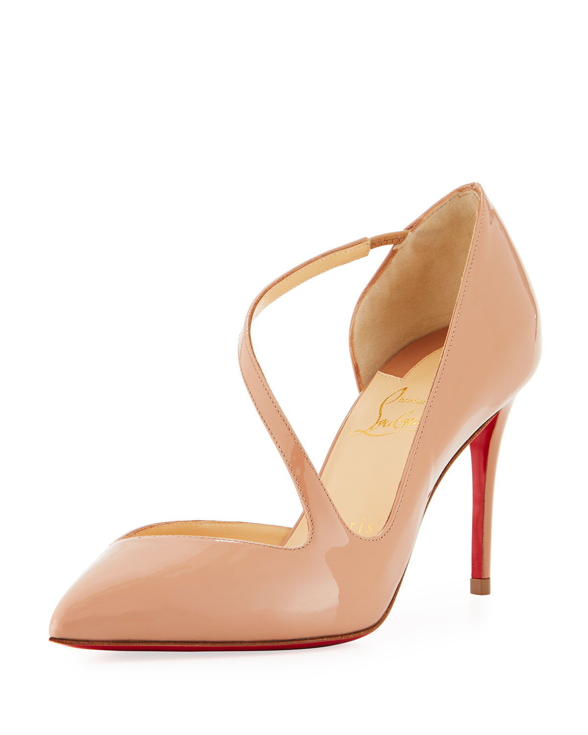 best service 43088 4151e Jumping Asymmetric Red Sole Pump
