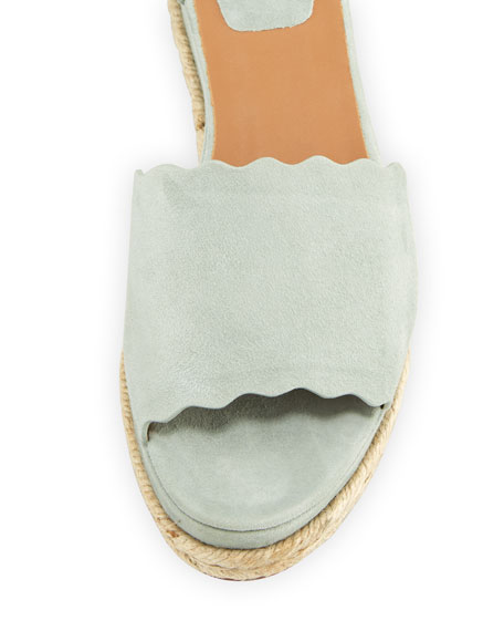 Scalloped Platform Espadrille Sandal