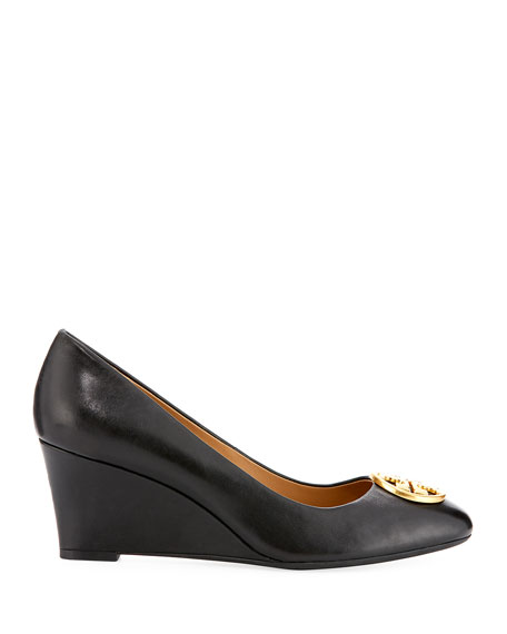 Image 2 of 3: Tory Burch Chelsea Wedge Medallion Pump