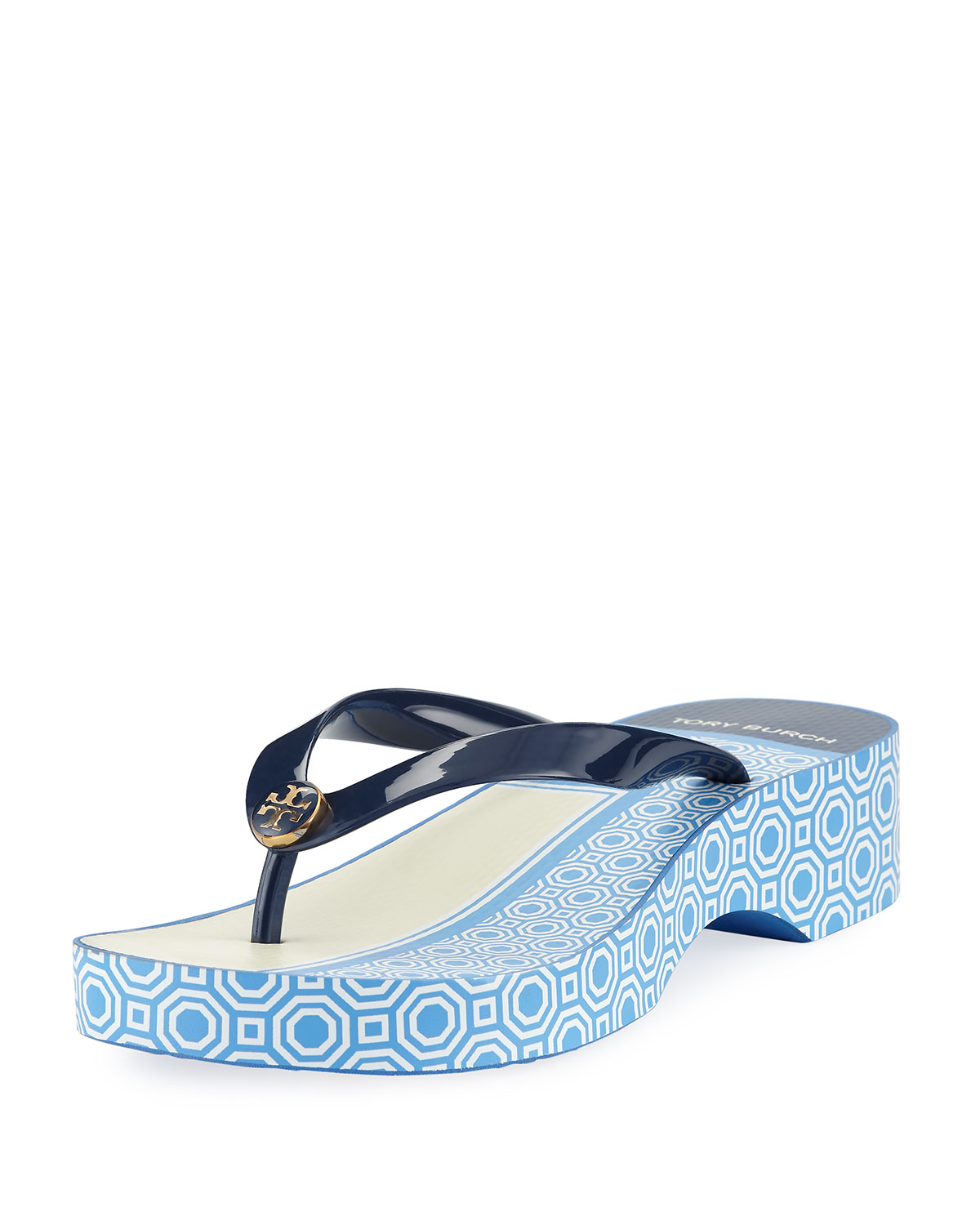 82596fb4cbdf Tory Burch Cutout Wedge Flip Flop