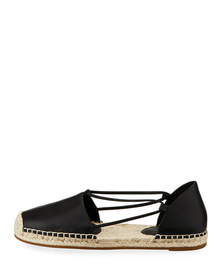 Image 2 of 4: Eileen Fisher Lee d'Orsay Flat Leather Espadrille Sandal