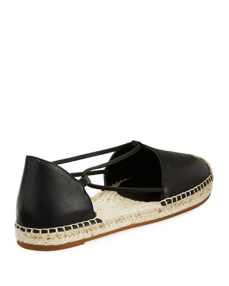 Image 4 of 4: Eileen Fisher Lee d'Orsay Flat Leather Espadrille Sandal