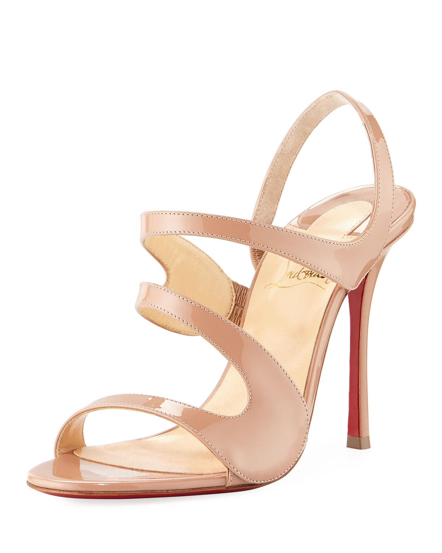0ab7832970e8 Christian Louboutin Vavazou Asymmetric Red Sole Sandal