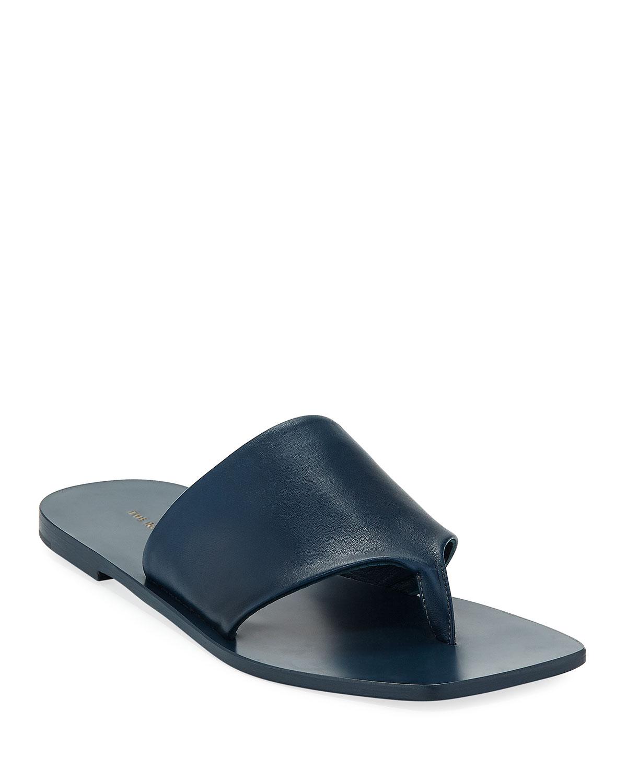 72fa4f3ac106 THE ROW Flat Napa Leather Thong Sandal
