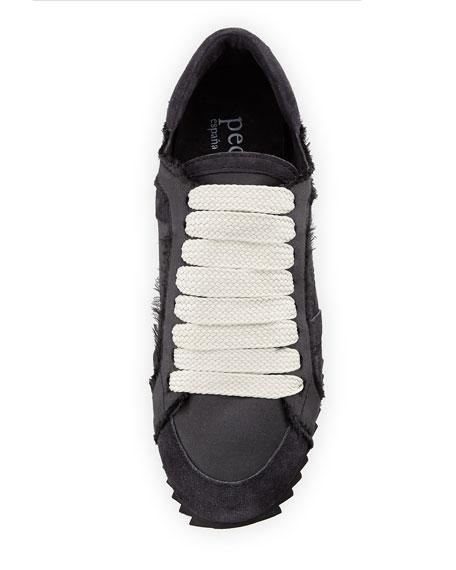 Pedro Garcia Cristina Satin Lace-Up Trainer Sneakers