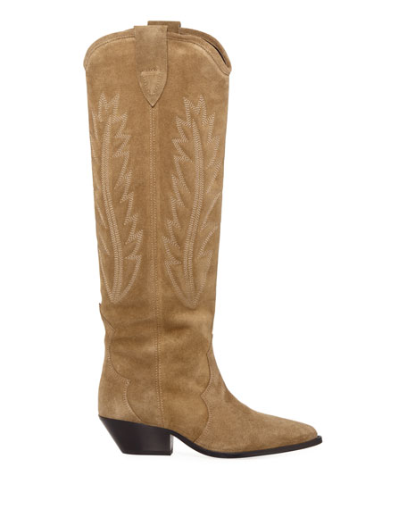 Isabel Marant Denzy Point-Toe Western Knee Boot