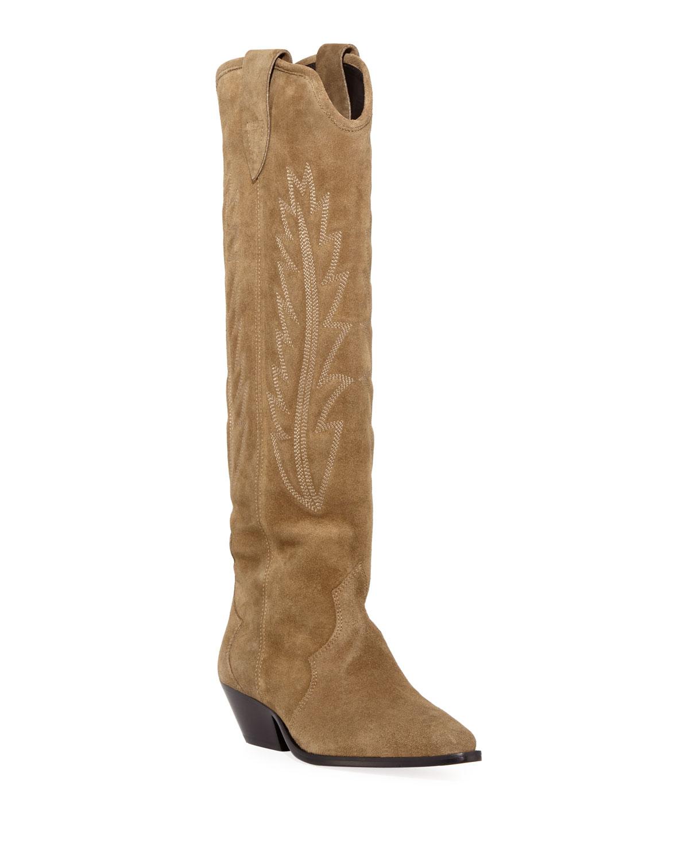 d78abc588de Isabel Marant Denzy Point-Toe Western Knee Boot | Neiman Marcus