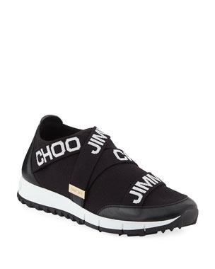 c09d86c5ce59 Jimmy Choo Toronto Logo Knit & Leather Sneakers