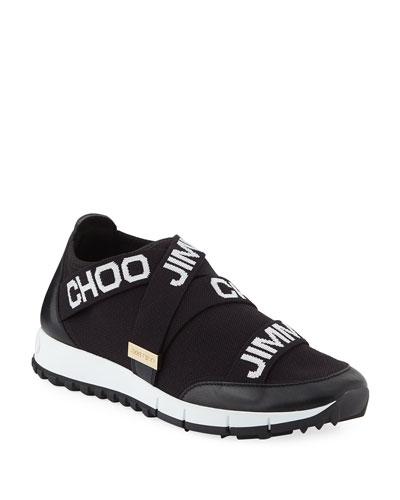 Toronto Logo Knit & Leather Sneakers