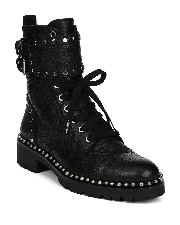 73cc0de8517 Jennifer Studded Combat Boots