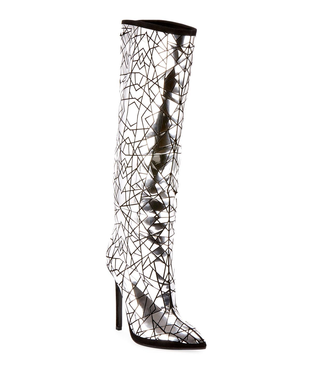 93e1480bcb Balmain Joris Mirror Over-The-Knee Boots | Neiman Marcus