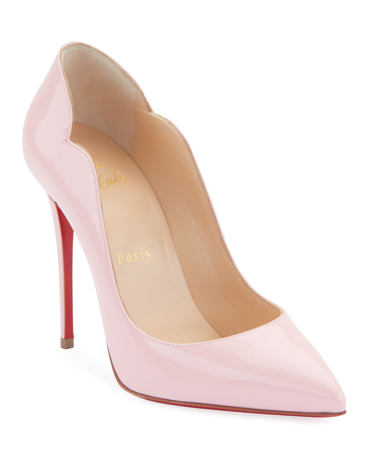 0021e7be4bc Hot Chick 100 Patent Red Sole Pumps