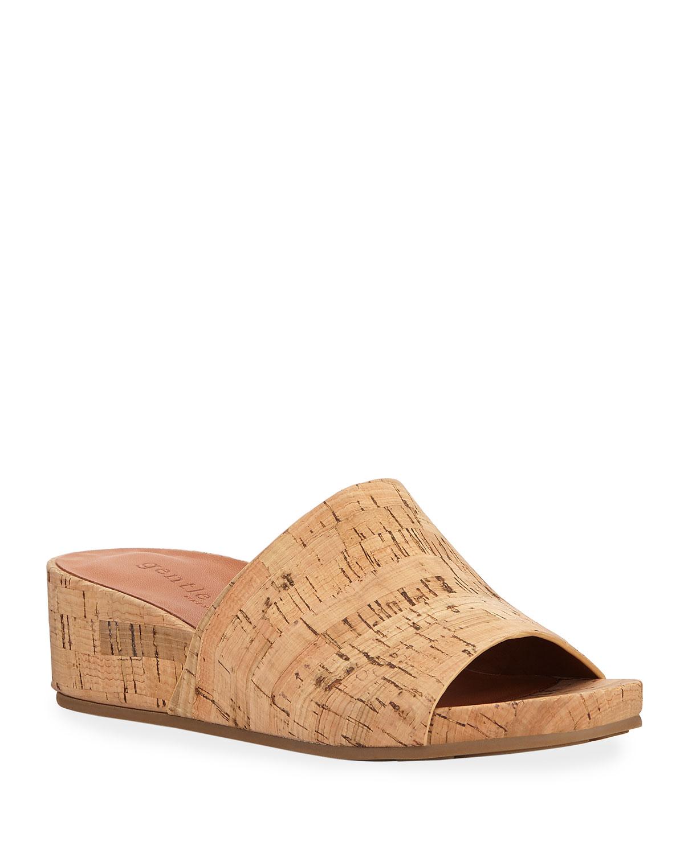 d9c146b4bf5b49 Gentle Souls Gisele Cork Demi-Wedge Slide Sandals