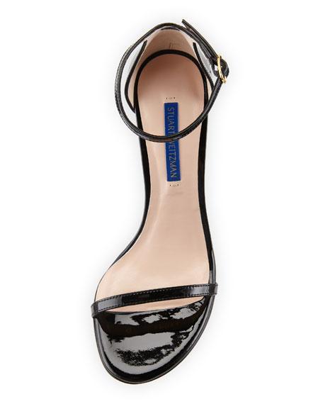 Stuart Weitzman Nudist 80 Patent Leather Naked Sandals