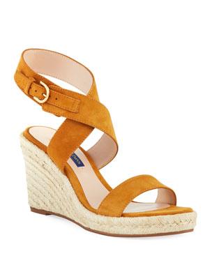 d3451618eca13 Stuart Weitzman Lexia Wedge Espadrille Sandals