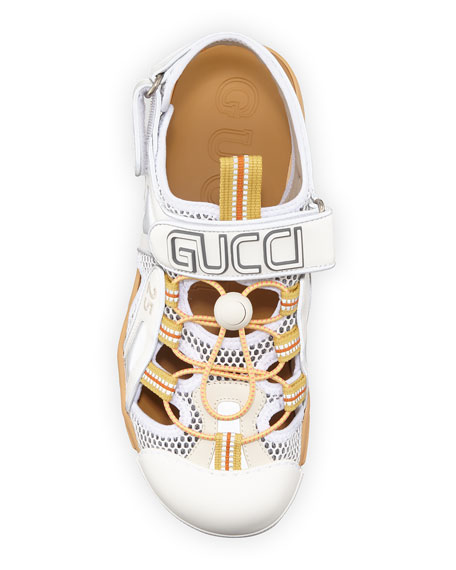 Gucci Tinsel Sneaker-Style Sandals