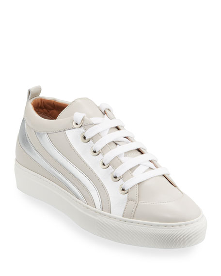 Laurence Dacade Flat Striped Lace-up Sneakers